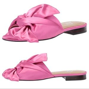 Hot Pink Oversized Bow Flats